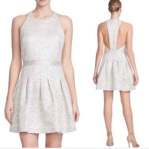 CECE NWOT Metallic Tweed Fit Flare Racerback Dress
